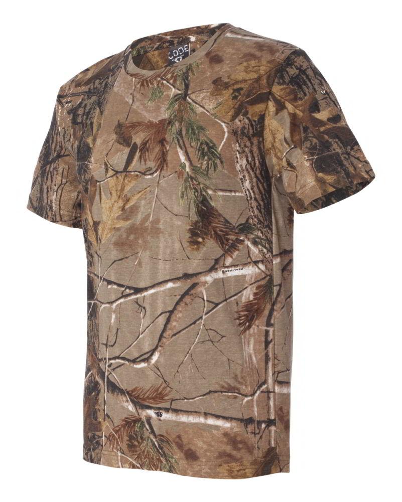 code v realtree camouflage short sleeve mens t shirt 3980 ebay. Black Bedroom Furniture Sets. Home Design Ideas