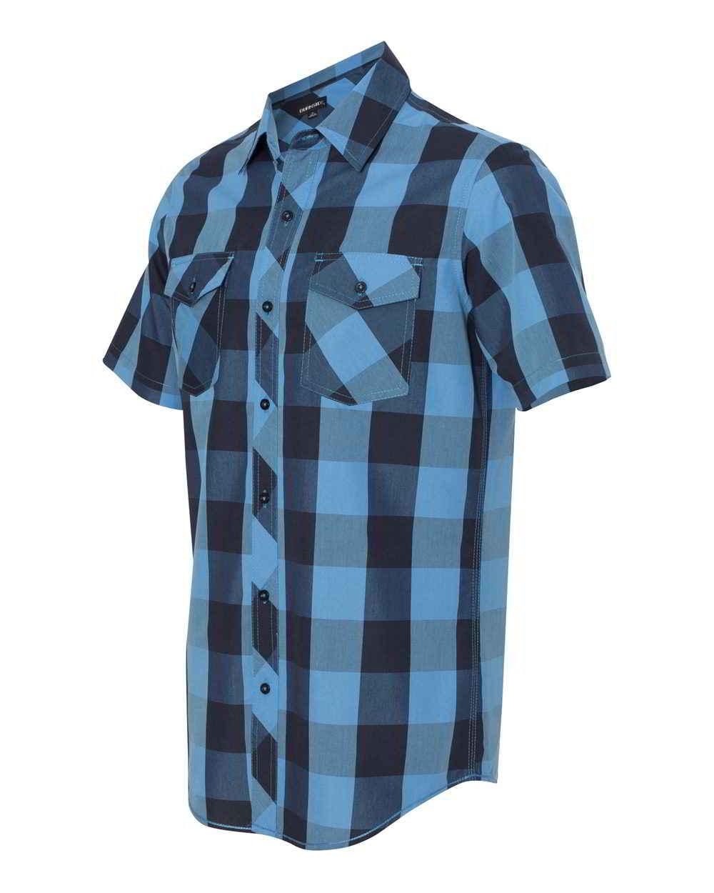 Burnside Mens Button Up Tops Buffalo Plaid Short Sleeve Shirt | eBay