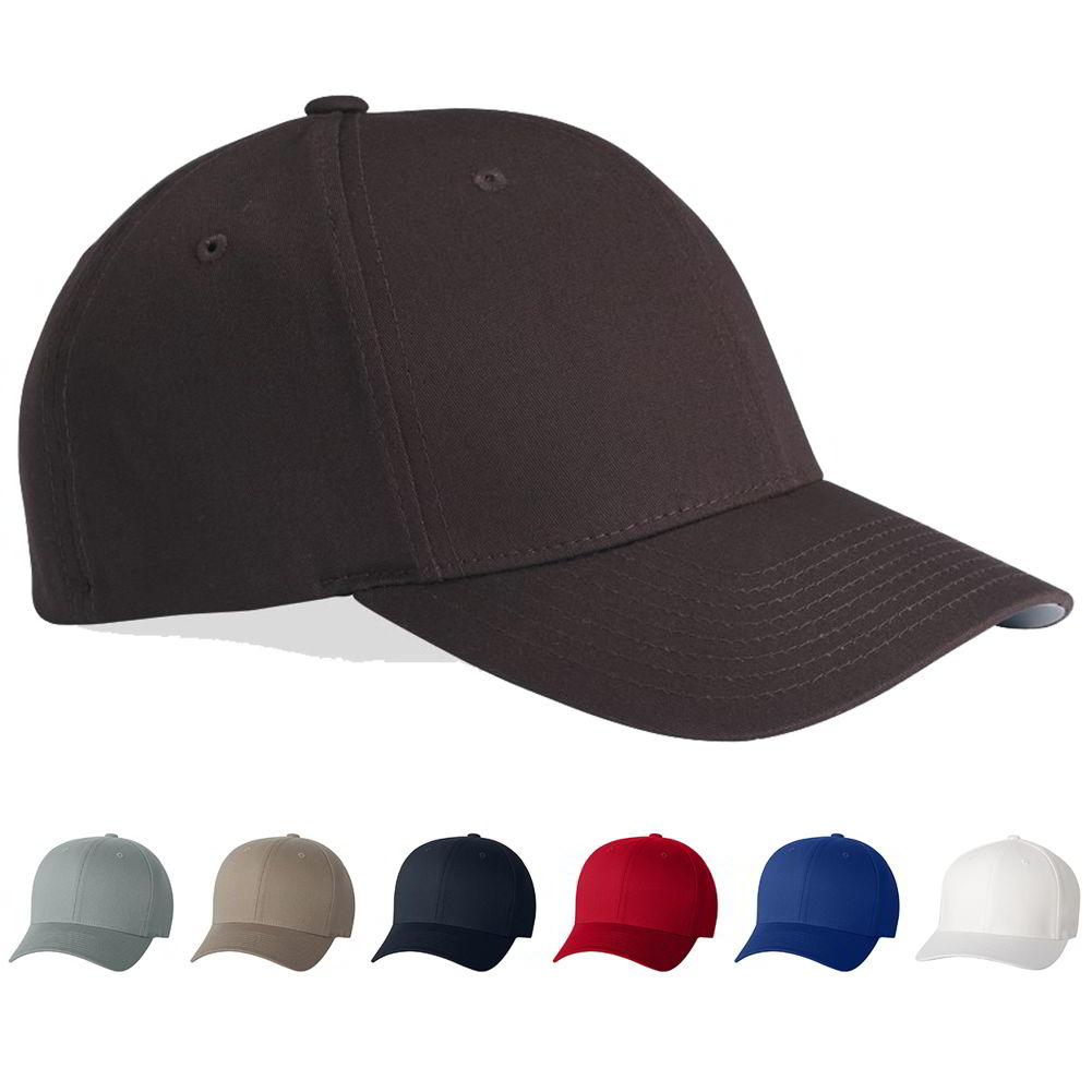 flexfit v flex twill cotton spandex baseball hat cap 5001