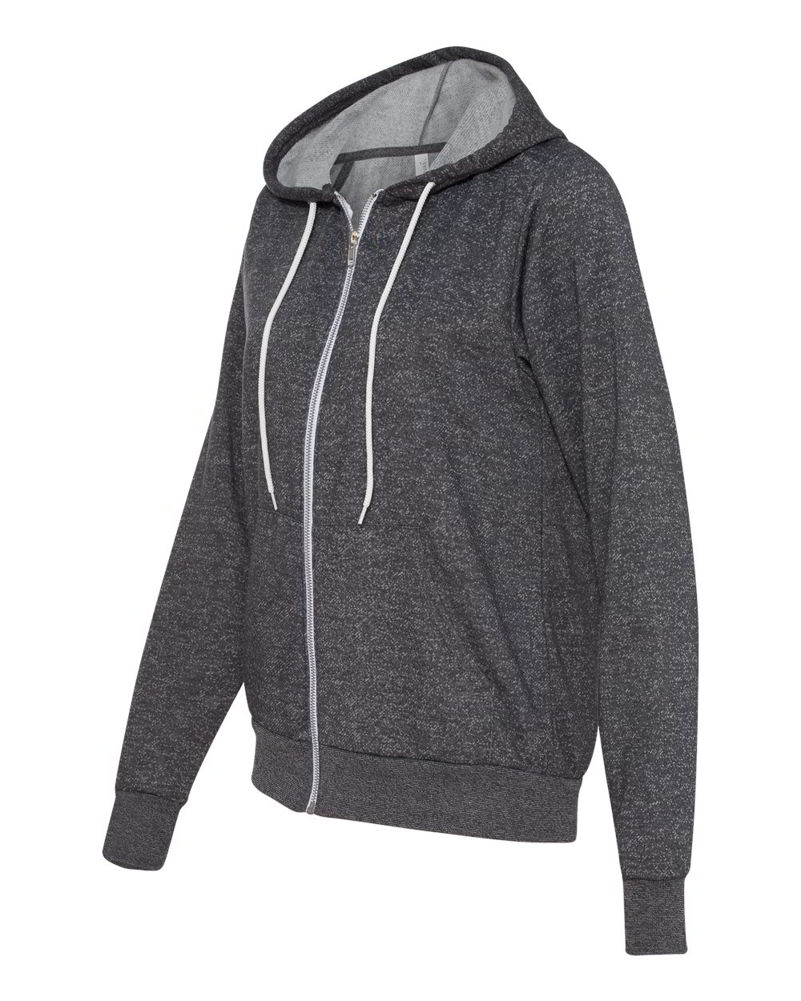 Bella   Canvas Unisex Full Zip-Up Mens & Womens Hoodie Jacket ...