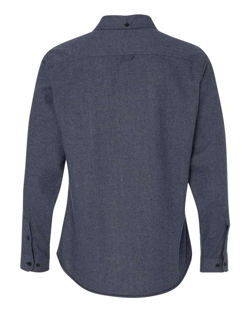 Burnside Solid Flannel Cotton/Polyester Mens Long Sleeve Button Up ...