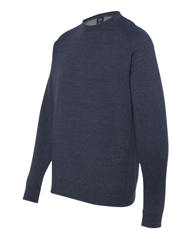 Independent Trading Co. Mens POver Fitted Raglan Crewneck ...