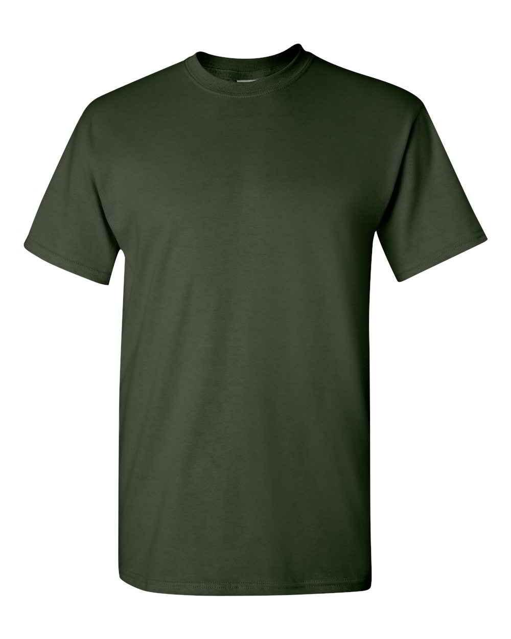 Gildan-Heavy-Cotton-Short-Sleeve-Mens-Green-T-Shirts-5000 thumbnail 7