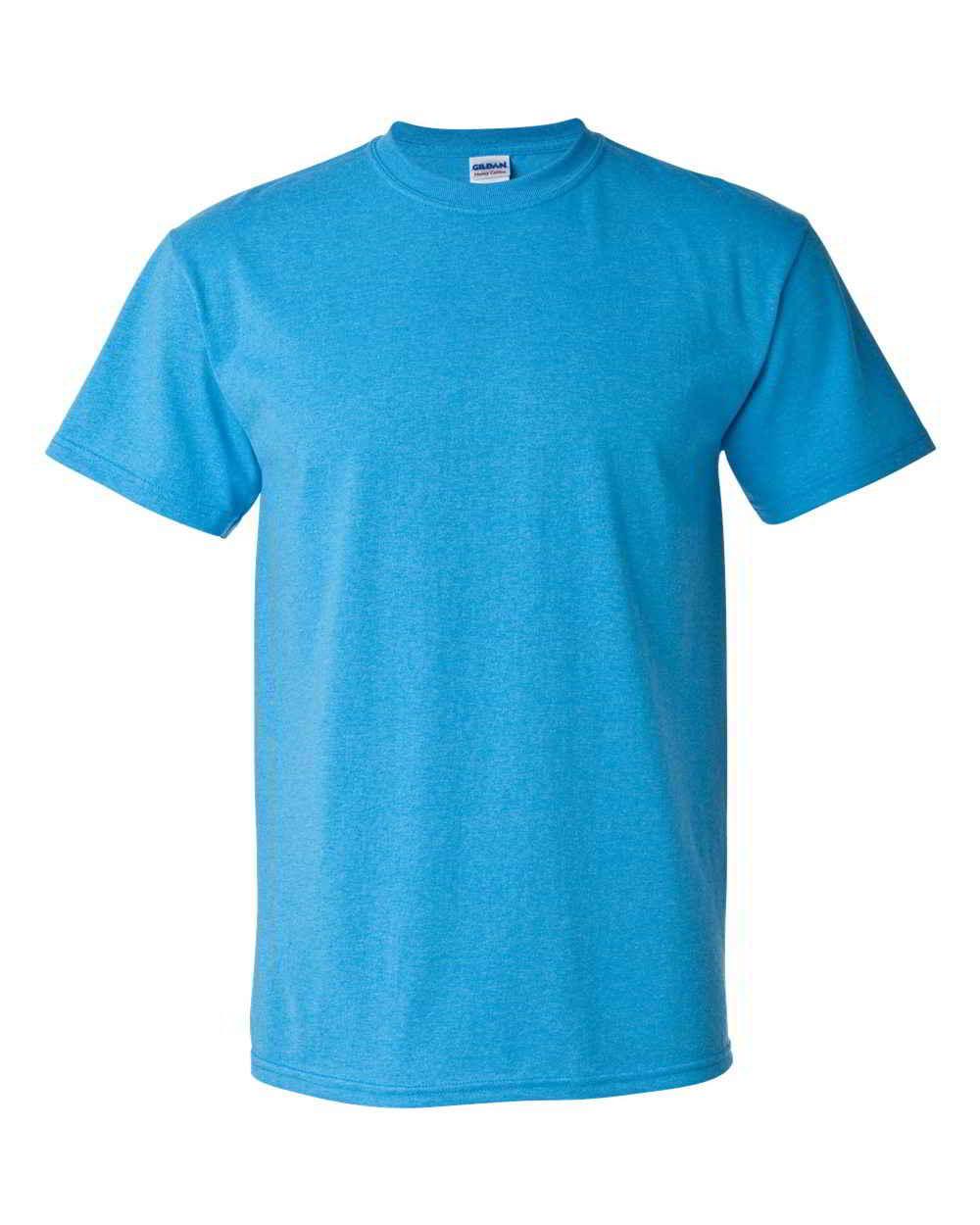 Gildan-Heavy-Cotton-Short-Sleeve-Mens-Blue-T-Shirts-5000 thumbnail 12