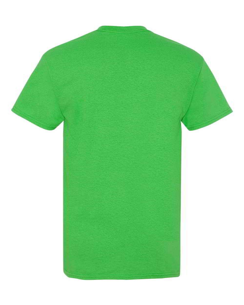 Gildan-Heavy-Cotton-Short-Sleeve-Mens-Green-T-Shirts-5000 thumbnail 5