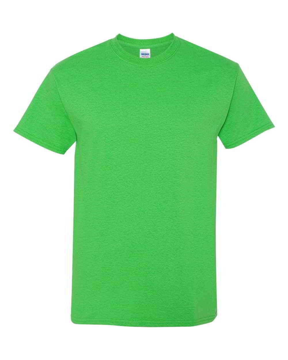 Gildan-Heavy-Cotton-Short-Sleeve-Mens-Green-T-Shirts-5000 thumbnail 4