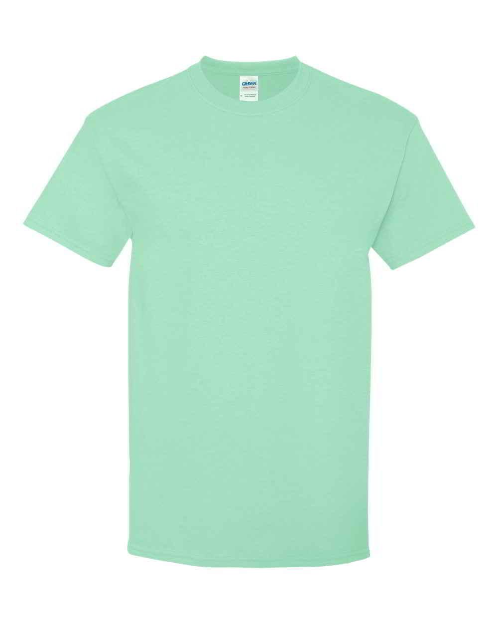 Gildan-Heavy-Cotton-Short-Sleeve-Mens-Green-T-Shirts-5000 thumbnail 25