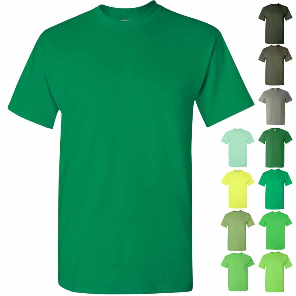 Gildan-Heavy-Cotton-Short-Sleeve-Mens-Green-T-Shirts-5000