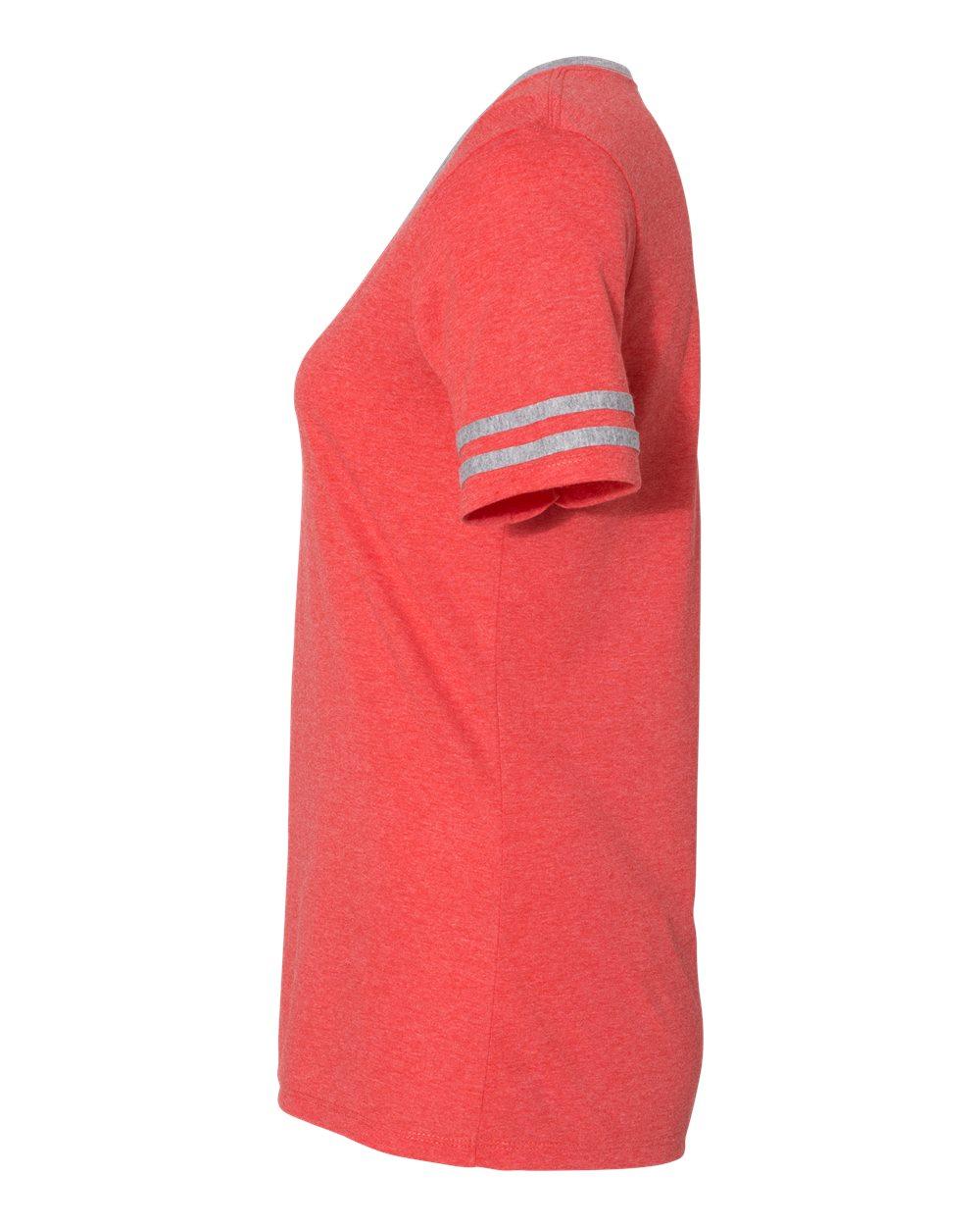 Jerzees-Triblend-Women-039-s-V-Neck-Varsity-T-Shirt-602WVR thumbnail 11