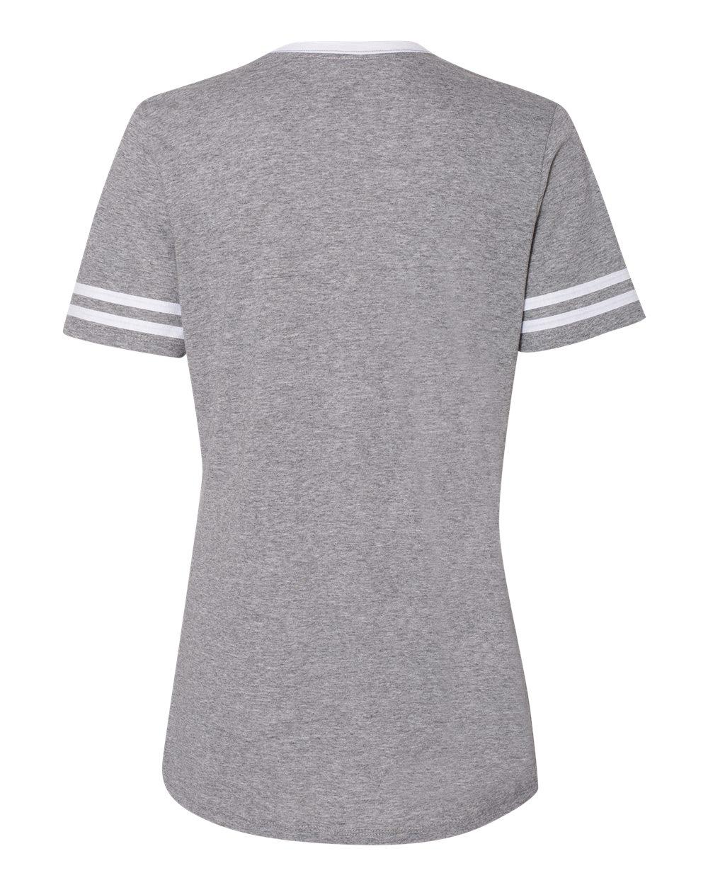 Jerzees-Triblend-Women-039-s-V-Neck-Varsity-T-Shirt-602WVR thumbnail 20