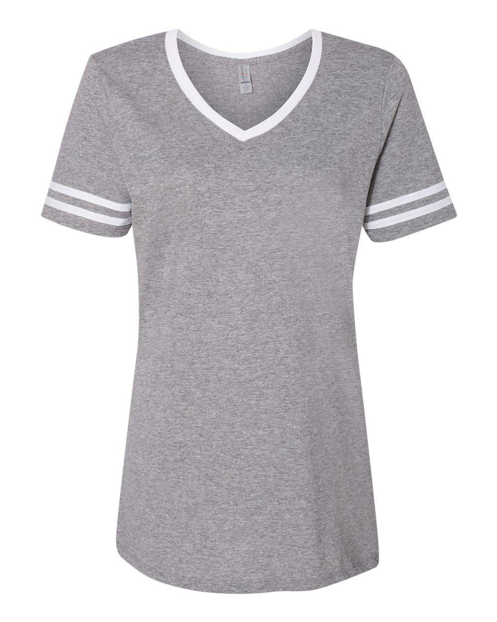 Jerzees-Triblend-Women-039-s-V-Neck-Varsity-T-Shirt-602WVR thumbnail 21