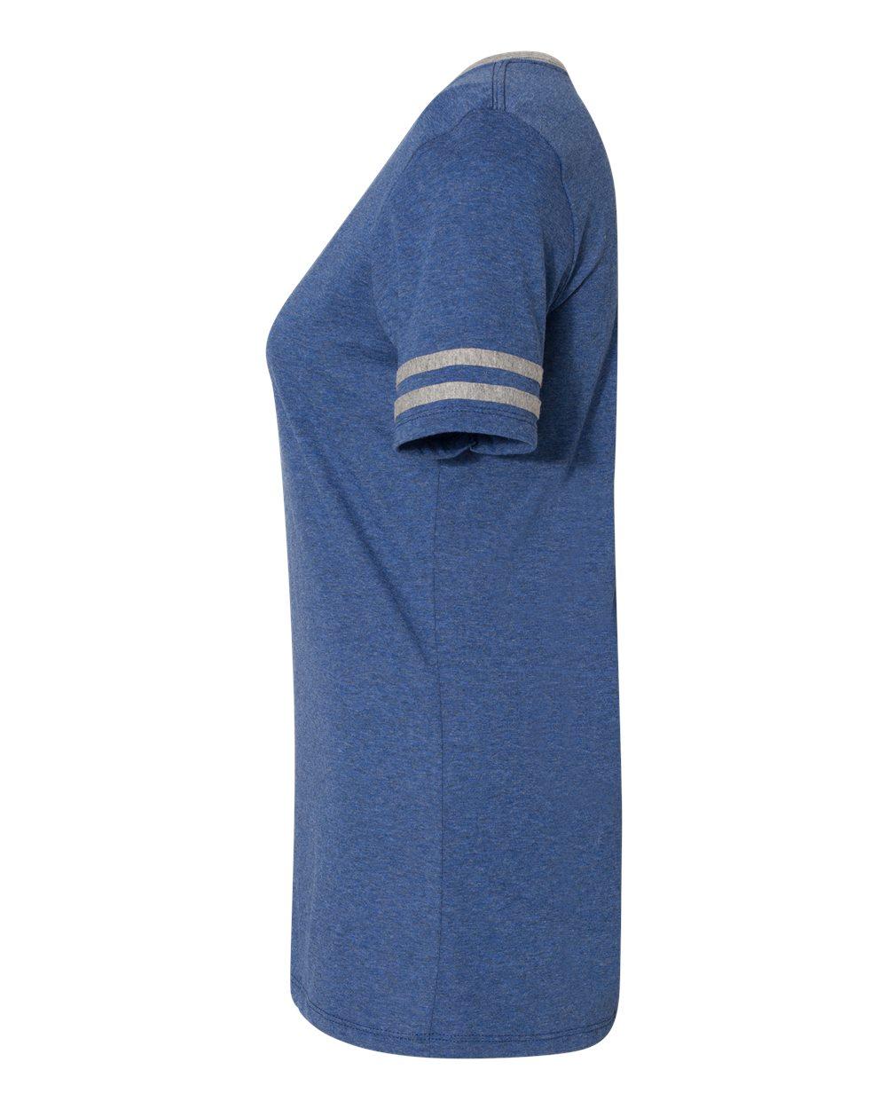 Jerzees-Triblend-Women-039-s-V-Neck-Varsity-T-Shirt-602WVR thumbnail 23
