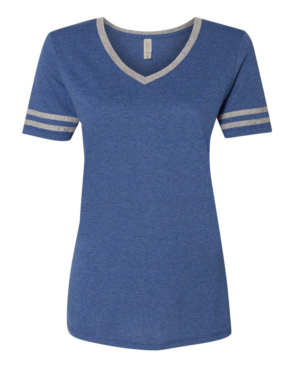 Jerzees-Triblend-Women-039-s-V-Neck-Varsity-T-Shirt-602WVR thumbnail 25