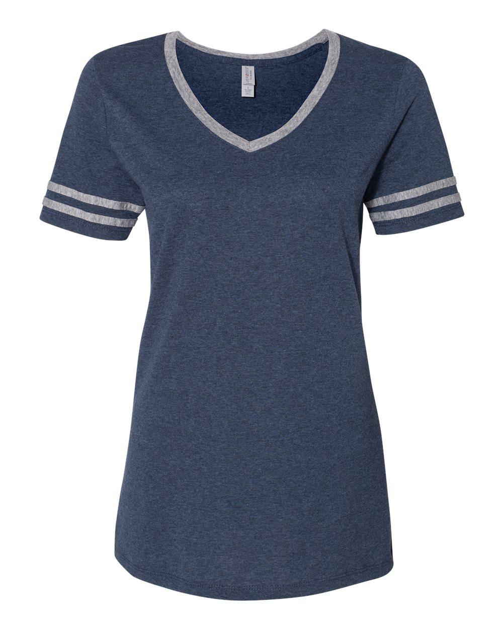 Jerzees-Triblend-Women-039-s-V-Neck-Varsity-T-Shirt-602WVR thumbnail 17